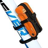 Inbike Antifurto Lucchetto Bici Pieghevole da Bicicletta per Ciclismo(Arancione,Anti-idraulica)