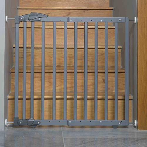 Geuther 2714 GU Türschutzgitter zum Klemmen oder Schwenken 2in1, 2714, In Verstellbereich, 68-102 cm, grau, 3.9 kg