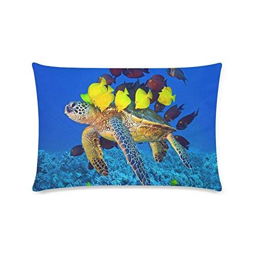 Sea Turtle Custom Rechteck Sofa Home dekorativer Überwurf-Kissenbezug Baumwolle Polyester Twin Seite Druck 40,6x 61cm (Monster-truck-plüsch Werfen)