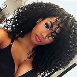 MZP Mode curly schwarze Farbe synthetische Perücken für europäische und afro Frauen , black