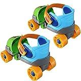 ZCRFY Inline-Skates Kinder Rollschuhe Schlittschuhe Zweireihig 4-Rad-Gleitschuhe Einstellbare Größe Skating