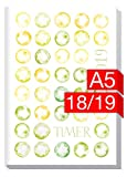 Chäff-Timer Classic A5 Kalender 2018/2019 [Grüne Monde] 18 Monate Juli 2018-Dezember 2019 - Terminkalender mit Wochenplaner - Organizer - Wochenkalender