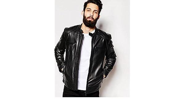 Rajgharana Exports Mens Leather Jacket Moto Jacket Casual Wear