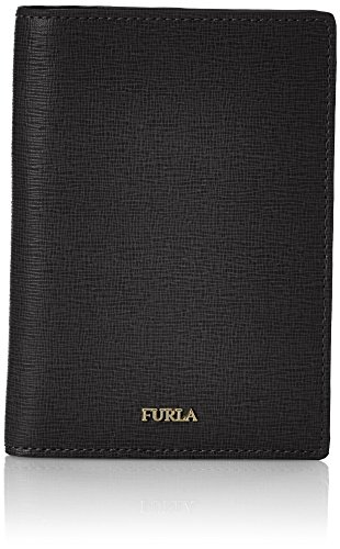 FURLA Damen Linda S Passport Holder Business Tasche, Schwarz (Onyx), 1x14x10 cm (Furla Leder Tasche)