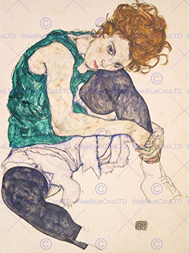 egon-schiele-seated-woman-legs-drawn-up-adele-herms-art-painting-print-12x16-inch-30x40cm-812om