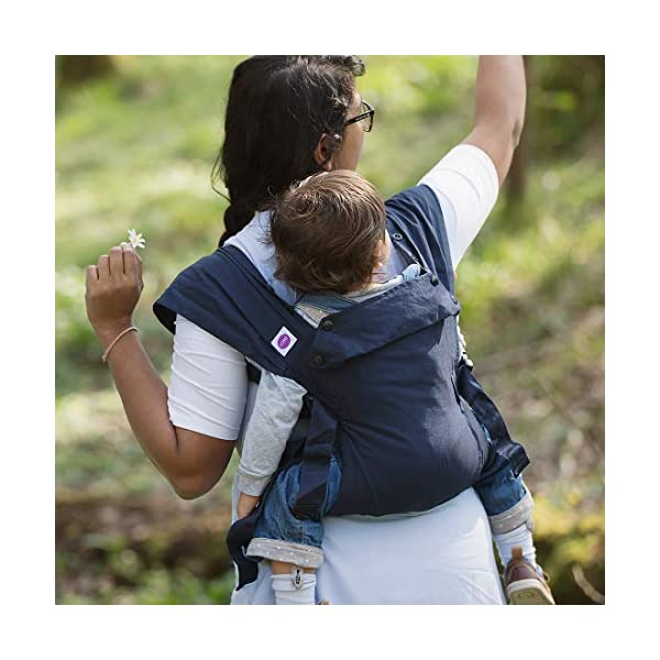 Izmi Baby Carrier (3.2kg-15kg), New Born Carrier, Multiple Carrying Positions, Midnight Blue Izmi Use from birth (3.2kg-15kg), new born cushion inserts included with carrier 4 carrying positions: front carry, outward facing carry, hip carry or back carry Adjustable seat width enables the Izmi Baby Carrier to adapt as your little one grows 6