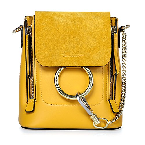 HT Fahion Satchel Backpack, Borsa a spalla donna Yellow