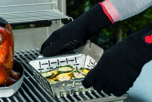 51rc4XcH3cL - Weber Grill Style Gemüsekorb Edelstahl klein 6481