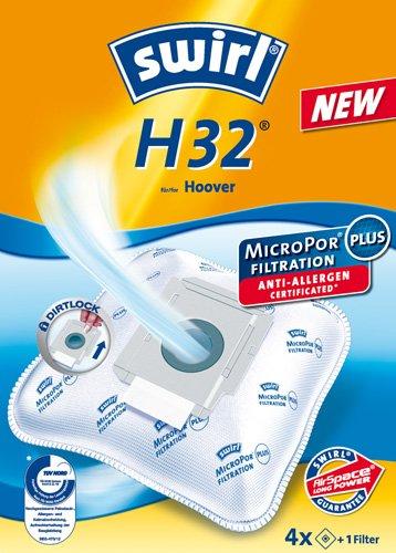 4 Original Swirl Staubsaugerbeutel passend für H32