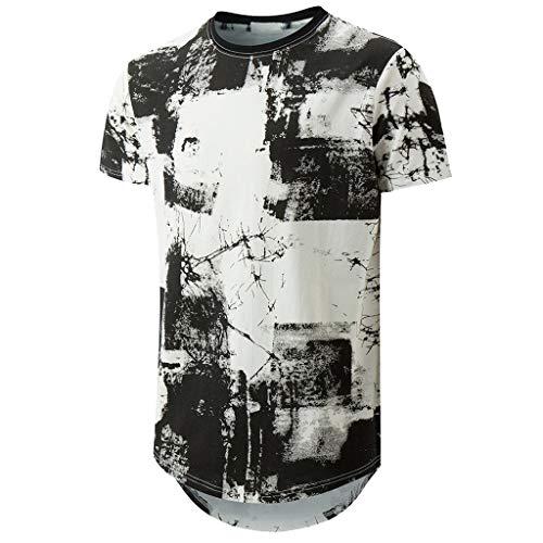 54056ef98 waotier Camiseta De Manga Corta para Hombre Camiseta De Cuello Redondo  PatróN.