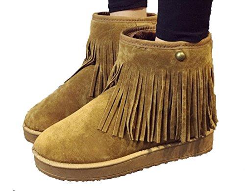 Frange addensare velluto tubo corto Scarpe YCMDM invernali Snow Boots