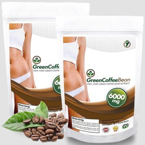240 Kapseln Green Coffee Bean Extrakt a 6000mg - 50% Chlorogensäure - ausreichend 80 Tage Kur - schnelle natürliche Gewichtsabnahme mit 100% Grüne Kaffeebohnen - Premium Qualität