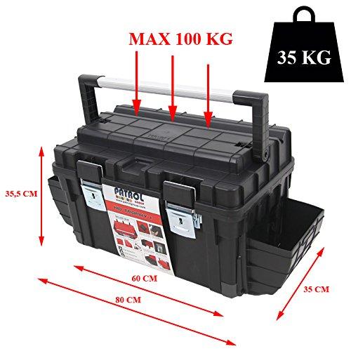 Kunststoff Werkzeugkoffer Formula HD BOX Trophy 1 Plus, 80x35cm Kasten Werzeugkiste Sortimentskasten Werkzeugkasten Anglerkoffer - 3