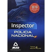 Inspector de Policía Nacional. Temario Volumen 4 y test