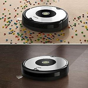 iRobot Roomba 605- Robot aspirador para suelos duros y alfombras, con tecnología Dirt Detect, sistema de limpieza en 3 fases