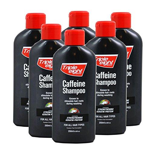Triple Acht Koffein Shampoo für alle Haartypen, 250ml (6Stück)
