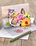 3D Pop - UP Karte Geburtstag, Geburtstagskarte 3D, POP - UP Karten, POP UP Karten, Motiv: Rosen