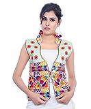 #9: Banjara India Kutchi Waist Jacket (Chakachak) - White