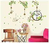 Kreatives Haupttextil-Haus-Wand-Aufkleber-Wanduhr-Nachttisch-Hintergrund-Dekoration
