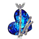 P&M-Amor Venecia-Collar Mujer Joyeria con cristales Swarovski Azul