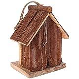 Belukies Artigianato in Legno Birdhouse Birdhouse Hanging Nest Nesting Box con Gancio Home Garden Decor Wood