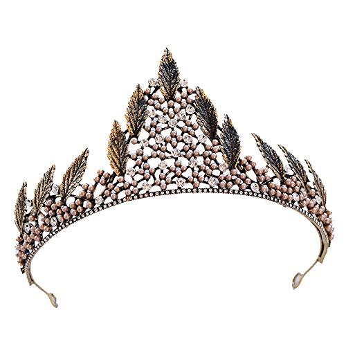 MYYQ Europäischen Retro-Kristall Grand Crown Kopfbedeckungen Hochzeitskleid mit Schmuck 16 cm * 8...