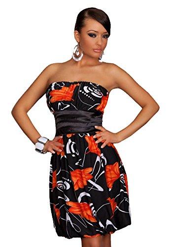 "Waooh - Fashion - Kleid "" Bibi "" Schwarz / Orange"