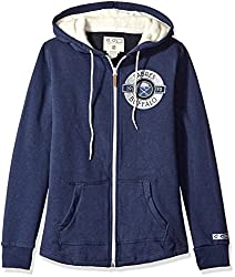 NHL Buffalo Sabres Womens CCM Full Zip Plush Hoodie, Large, Navy