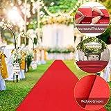 Jeteven Alfombra Espesa Roja Alfombra y Moqueta Ferial para la decoración de Bodas Presentaciones Inauguraciones y Actividades Exteriores