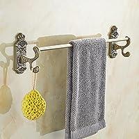 ssby European-Style Bronzo Antico asciugamano rack, bagno asciugamano bar, bronzo spazzolato intagliato asciugamano gancio ciondolo