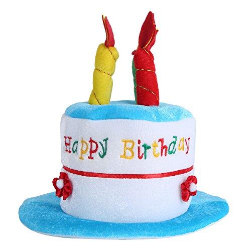 IEFIEL Happy Birthday Geburtstagshut Hut Torte Party Mütze Kerzen Geburtstag Party Hut Krone für Kinder und Erwachsenen Blau (Kinder) One Size (Crown Hüte Cap)
