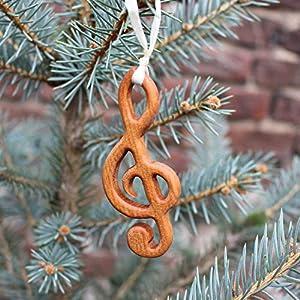 Christbaumschmuck aus Holz   Notenschlüssel   Tannenbaumschmuck   Weihnachtsbaumschmuck   handgemachte Holz Anhänger   Geschenkanhänger   Weihnachtsdeko