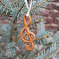 Christbaumschmuck aus Holz | Notenschlüssel | Tannenbaumschmuck | Weihnachtsbaumschmuck | handgemachte Holz Anhänger | Geschenkanhänger | Weihnachtsdeko