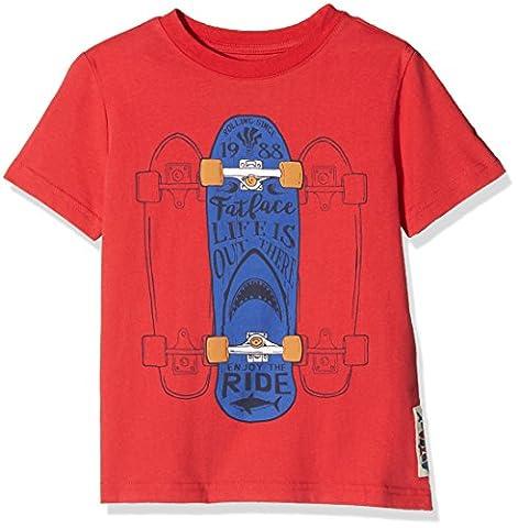 Fat Face Skateboard, T-Shirt Garçon, Red (Lava), 6-7 Ans