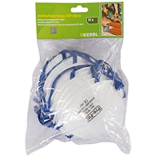 Kerbl 34511/10Fine Dust Mask FFP1Pack of 10with Tab Card