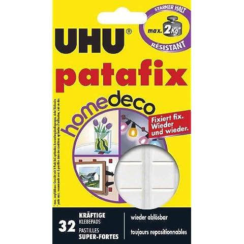 patafix UHU HomeDeco kräftige, klebepads riposizionabile 32pezzi