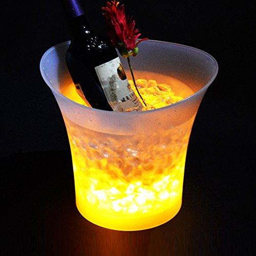 LED colorido Gradient cubitera de hielo para champán rojo vino bebidas cerveza enfriador de hielo Bar fiesta accesorios 5L