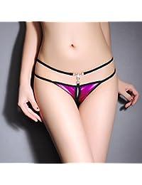 RangYR*Sra. cadena de apertura la Sra. Pearl T cadena pantalones ropa interior femenina de baja altura…