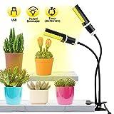 Luz de Plantas,Qomolo 45W 88LED Lámpara de Plantas Regulable 9 niveles, Espectro Completo...