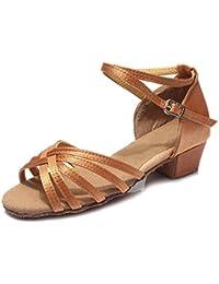 SWDZM Niñas Estándar de Zapatos de baile latino Satén Ballroom modelo-ES-202
