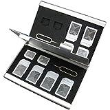Bandc 14emplacements Boîte en aluminium étui de rangement pour micro SIM/carte SIM/Aiguille/Nano carte SIM Carte (et sans aiguille)