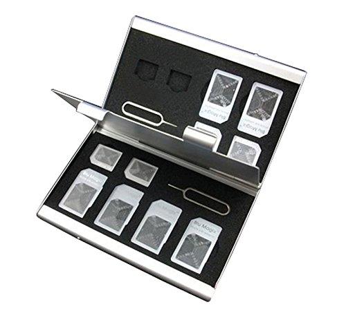 bandc-custodia-rigida-in-alluminio-con-14-scomparti-per-schede-micro-sim-sim-needle-nano-sim-schede-