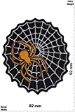 Patch-Iron-Gold Spinne mit Netz - - Tiere - - Iron On Patches - Aufnäher Embleme Bügelbild Aufbügler