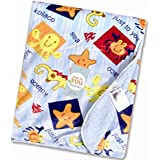 Baby Bucket Double Layer Velvet Fleece Newborn Printed Baby Blanket (VEL SEA ANIMAL)