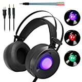 Combatwing M170 Professional 3.5mm PC Stereo Gaming Headset Over-Ear Headphones Volume Control Breathing LED Lights