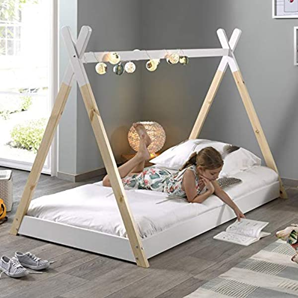 Alfred & Compagnie TIPI - Cama con somier (90 x 200 pino ...