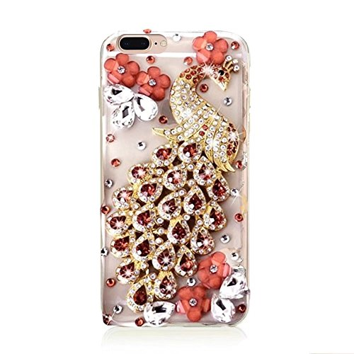 MOMDAD TPU Etui pour iPhone 7 Plus Souple Coque iPhone 7 Plus 5.5 Pouces TPU Silicone Coque iPhone 7 Plus 5.5 Pouces Soft Gel Silicone Etui iPhone 7 Plus 5.5 Pouces TPU Silicone Housse iPhone 7 Plus D TPU-Strass-3