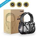 Casque Anti bruit, Fnova Manchons d'oreille Ear Protection avec NRR 34dB, Casque réduction du Bruit pour Enfant Adulte Protection Auditive, Certifié par ANSI S3.19 & CE EN521 (Noir.)