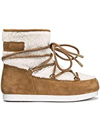 Moon Boot Womens Tecnica Far Side Low Shearling Faux Fur Warm Ankle Boots c8a1163c35b