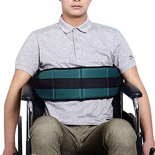 Rollstuhl-Gurt-Bügel / Sicherheitsgurt mit Flausch-Lehnsessel reparierte älteren Gesundheits-Geschirr-Rückhaltegurt , green Rollstuhl Titan